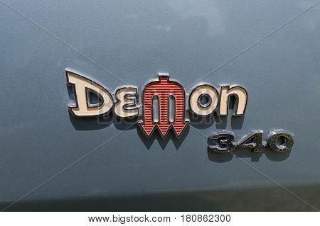 Dodge Demon 340 Emblem On Display