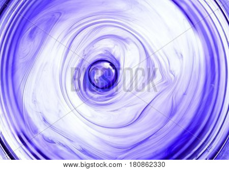 Ink In Water Spiral Abstract