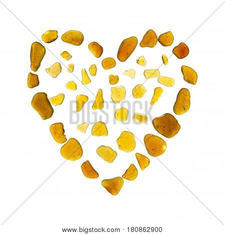 Heart Symbol Of Sea Glass