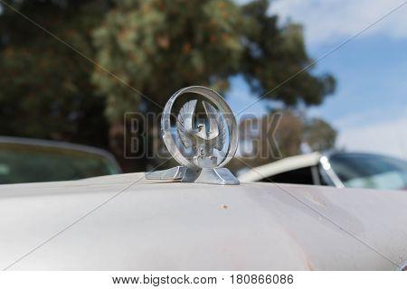 Chrysler Imperial Lebaron Emblem On Display