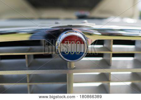 Chrysler 300 Emblem On Display