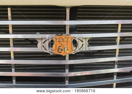 Route 66 Emblem On Display