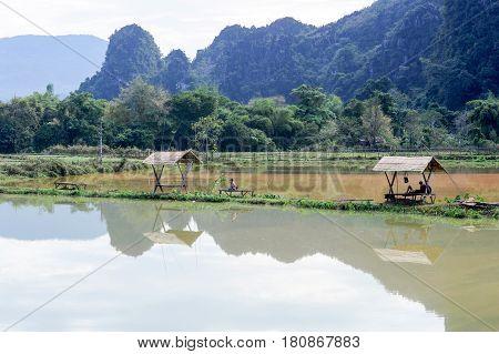 Rural Scene Near The Village Of Vang Vien