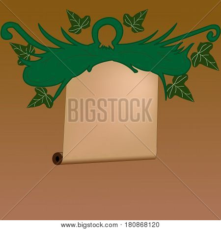 Abstract sheaf vector sign; Vintage with leafs