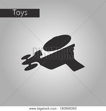 black and white style icon Toy gun