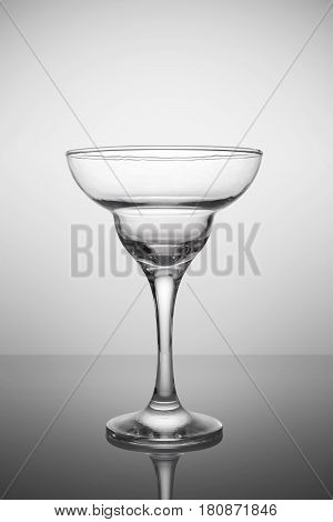 Empty Margarita Glass For Cocktail