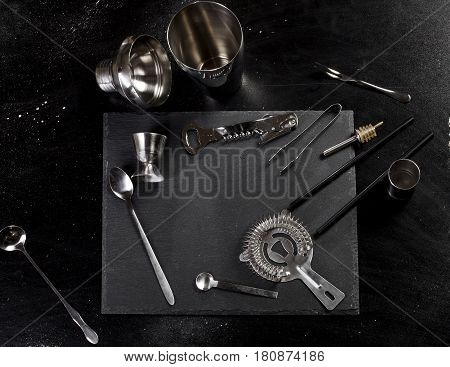 Set Of Bar Accessories For Making A Cocktails