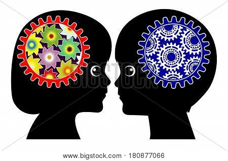 Girls and Boys think differently. Male and female brains differ by birth