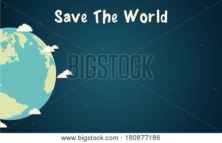Vector illustration save the world design collection stock