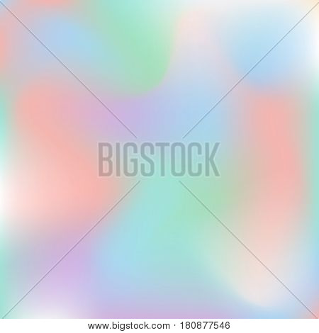 Vector holographic abstract background pastel colors. Holographic texture for design