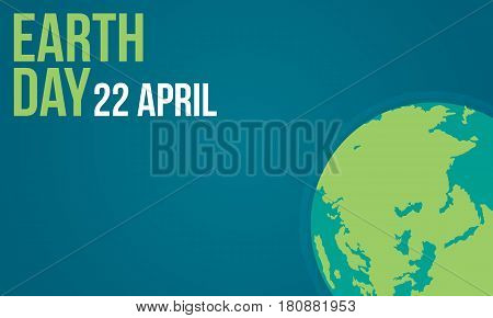 Earth day vector flat collection illustration stock