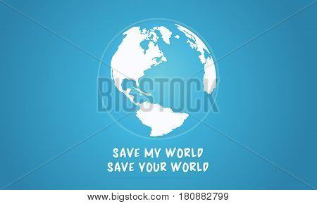 Vector flat earth day with world collection stock