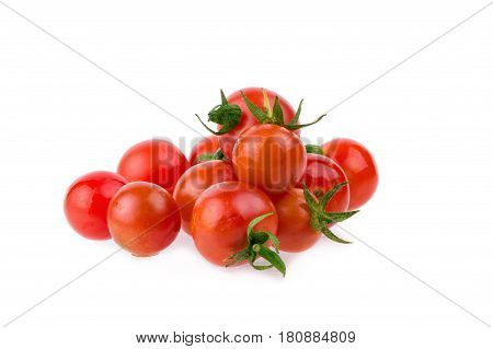 Fresh tomatoes Healthy food concept. on yellow table background.