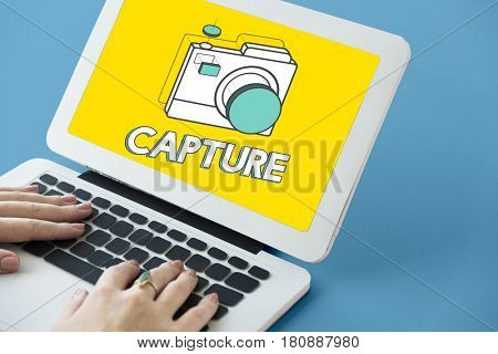 Digital camera illustration photography graphic