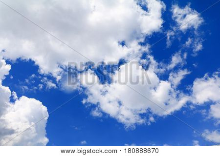 Soft blue sky with cloud art of nature beautiful and copy space for add text
