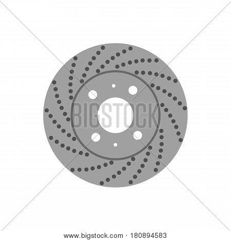 brake disk on the white background. Vector illustration