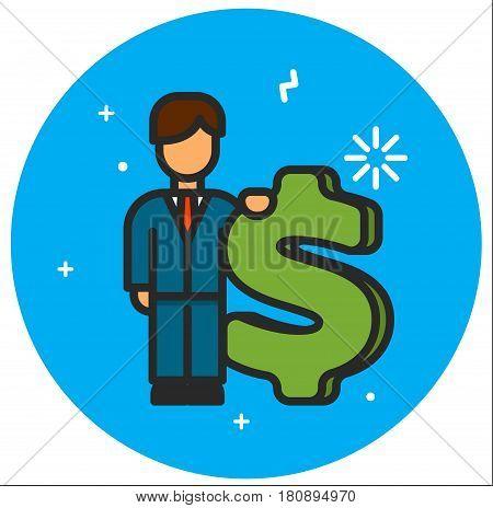 Dollar usa sign icon illustration design rasterized