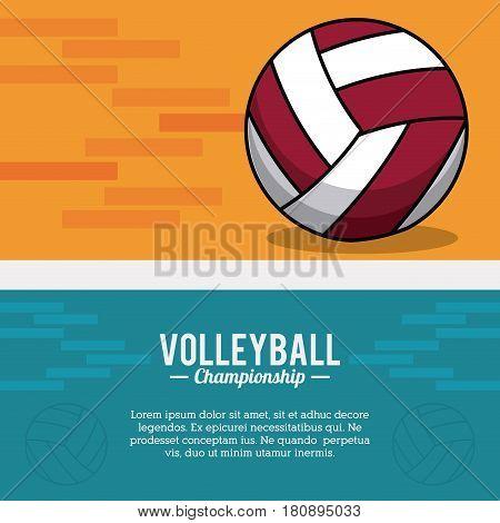 volleyball sport ball championship postcard vector illustration eps 10