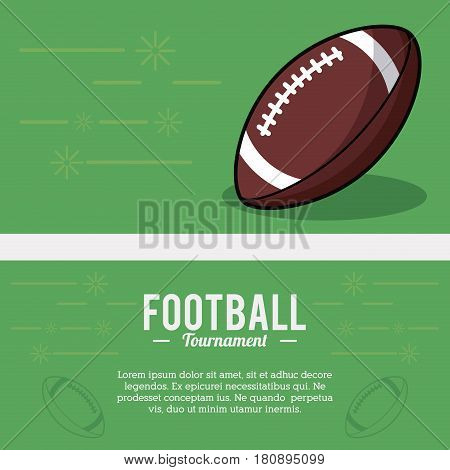 american football tournament ball sport vector illsutration eps 10