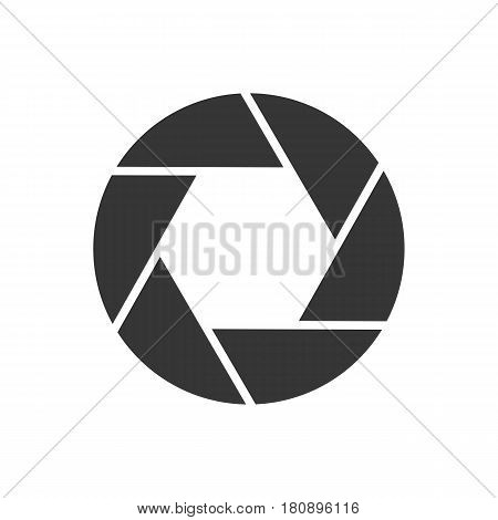 Photo aperture on the white background. Vector illustration