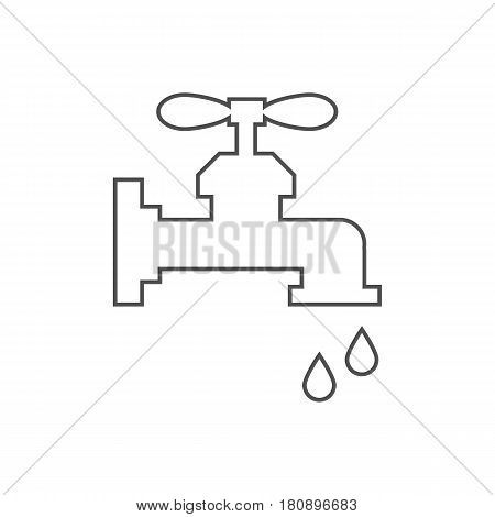 Water tap illustration on the white background. Vector illustration