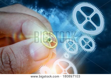 Businessman Builds A Business System .