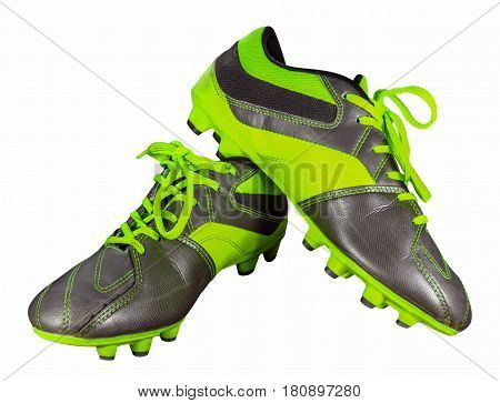 Football boots isolated on white with Clipping Path