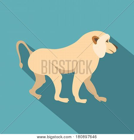 Japanese macaque icon. Flat illustration of japanese macaque vector icon for web