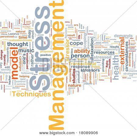 Background concept word cloud illustration of stress management