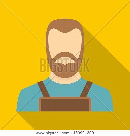 Blacksmith icon. Flat illustration of blacksmith vector icon for web