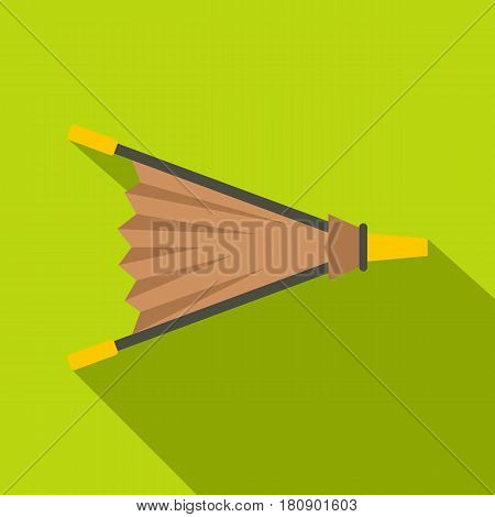 Fire bellows icon. Flat illustration of fire bellows vector icon for web