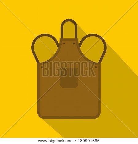 Blacksmiths apron icon. Flat illustration of blacksmiths apron vector icon for web