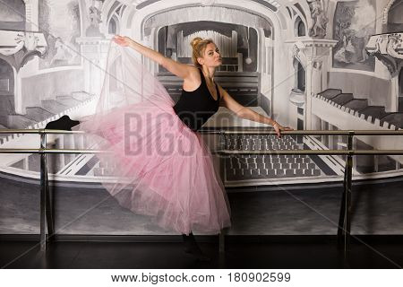 Pretty Ballerina In The Studio