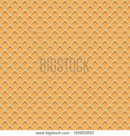 Seamless pattern with waffel texture. Cartoon texture