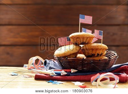 Traditional food muffins for the celebration of July 4