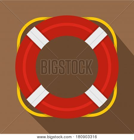 Lifebuoy icon. Flat illustration of lifebuoy vector icon for web