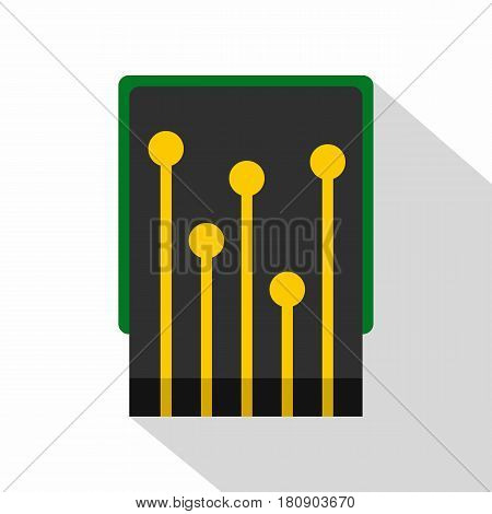 Computer processor icon. Flat illustration of computer processor vector icon for web