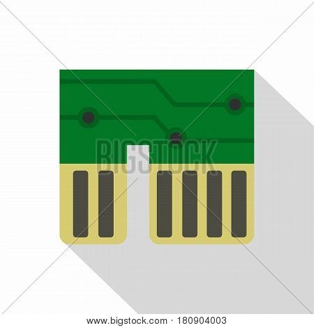 Computer chipset icon. Flat illustration of computer chipset vector icon for web