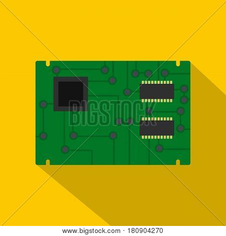 Electronic board icon. Flat illustration of electronic board vector icon for web