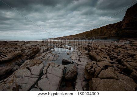 Cliffs at Nash Point Glamorgan Coast Wales
