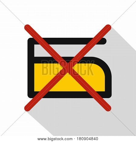 Do not iron icon. Flat illustration of do not iron vector icon for web