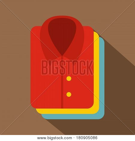 Stack of clothing icon. Flat illustration of stack of clothing vector icon for web