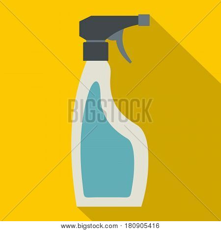 Blue sprayer bottle icon. Flat illustration of blue sprayer bottle vector icon for web