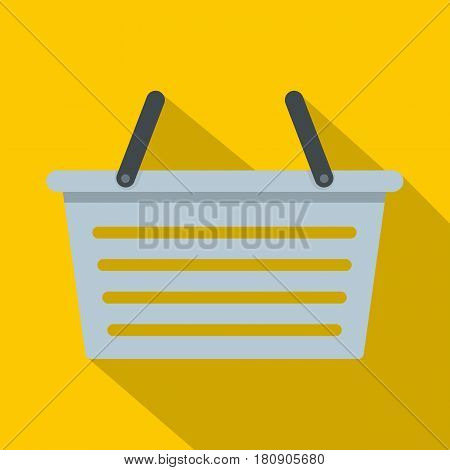 Flasket for dirty washing icon. Flat illustration of flasket for dirty washing vector icon for web