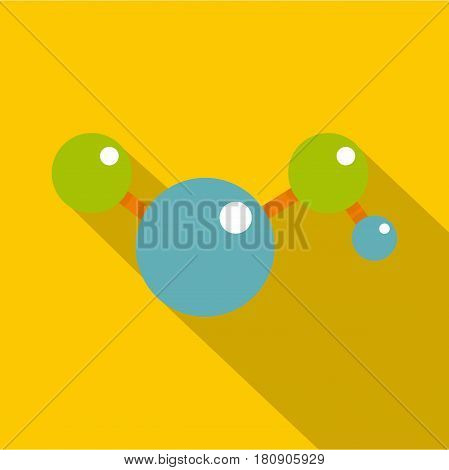 Molecules icon. Flat illustration of molecules vector icon for web