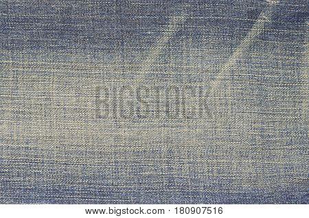 Denim blue jeans textile texture and background