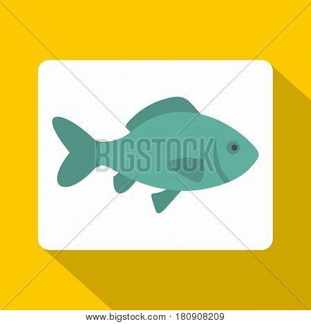 Fresh raw fish icon. Flat illustration of fresh raw fish vector icon for web