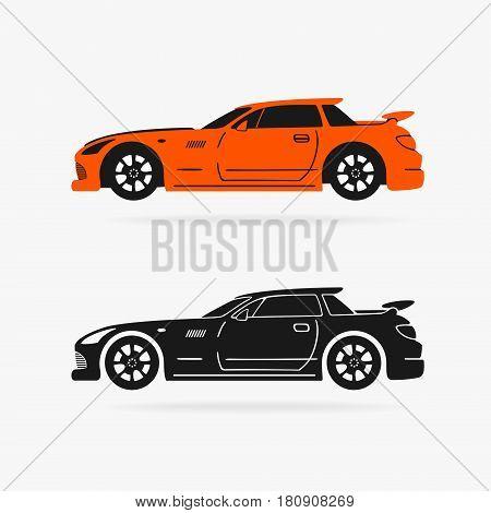Sports Car Vector Symbol eps 8 file format