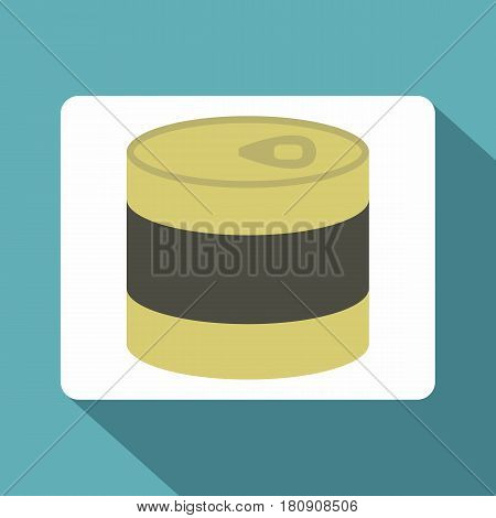 Closed tin can icon. Flat illustration of closed tin can vector icon for web