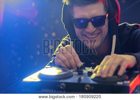 Dj Working At Nightclub